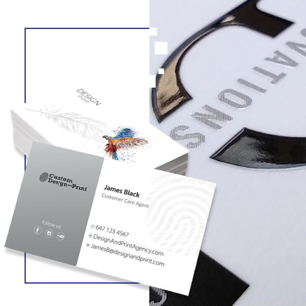 Business Cards Raised UV