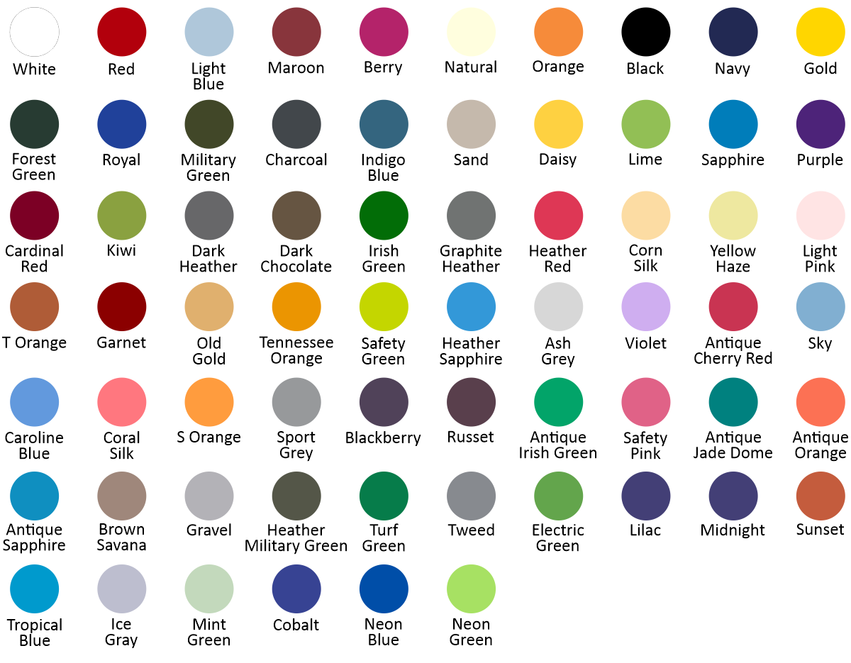 G500 - Color Chart